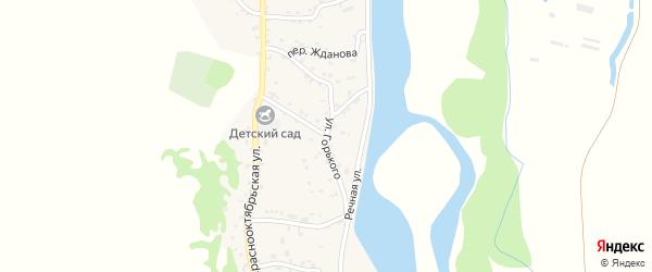 Улица Горького на карте аула Ходзь Адыгеи с номерами домов