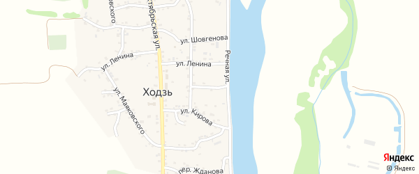 Переулок Суворова на карте аула Ходзь Адыгеи с номерами домов