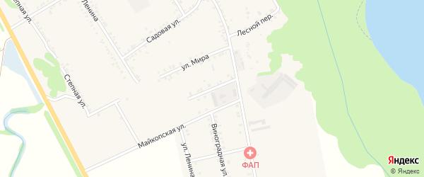 Молодежная улица на карте Вольного села Адыгеи с номерами домов