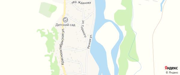 Речная улица на карте аула Ходзь Адыгеи с номерами домов