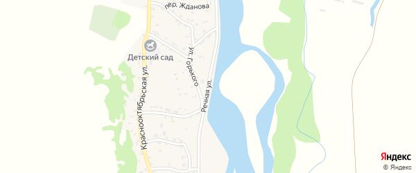 Речная улица на карте аула Ходзь с номерами домов