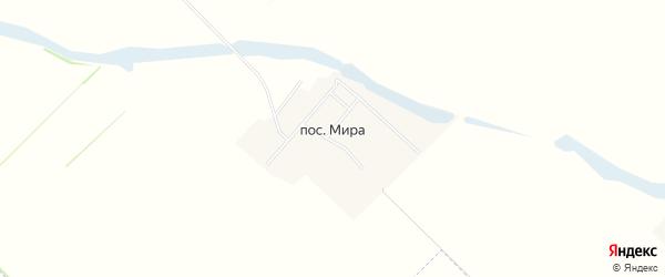 Карта хутора Миры в Краснодарском крае с улицами и номерами домов