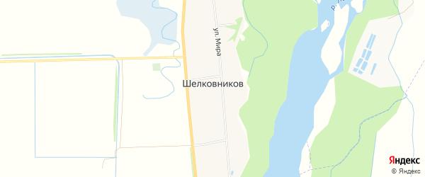Карта хутора Шелковникова в Адыгее с улицами и номерами домов
