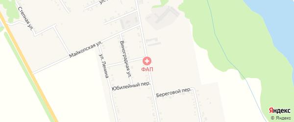 Советская улица на карте Вольного села Адыгеи с номерами домов
