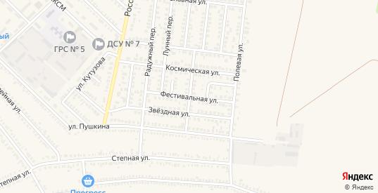 Фестивальная улица в Гулькевичах с номерами домов на карте. Спутник и схема онлайн