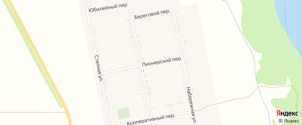 Пионерский переулок на карте Вольного села Адыгеи с номерами домов