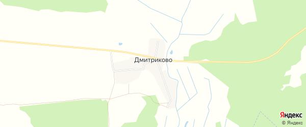 Карта деревни Дмитриково в Владимирской области с улицами и номерами домов