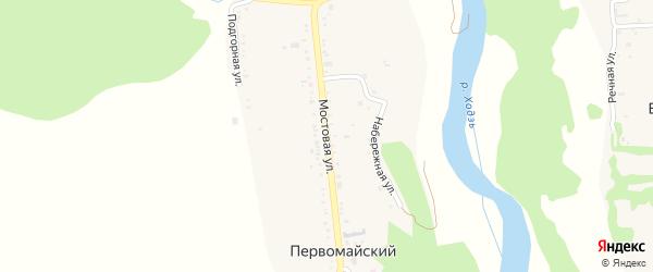 Мостовая улица на карте Первомайского хутора Краснодарского края с номерами домов