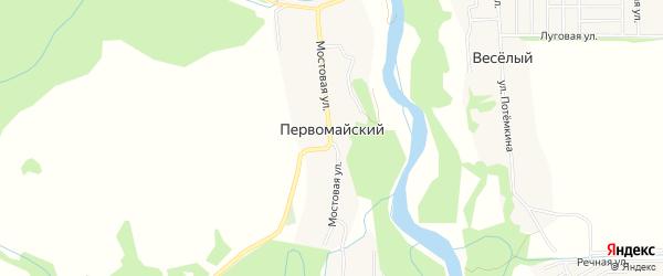 Карта Первомайского хутора в Краснодарском крае с улицами и номерами домов