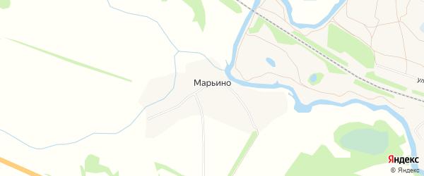 Карта деревни Марьино в Тамбовской области с улицами и номерами домов