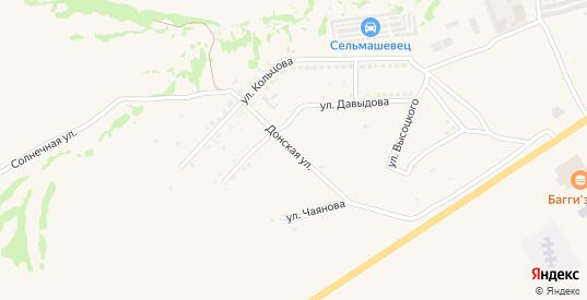 Донская улица в Белой Калитве с номерами домов на карте. Спутник и схема онлайн