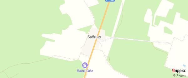 Карта деревни Бабино в Владимирской области с улицами и номерами домов
