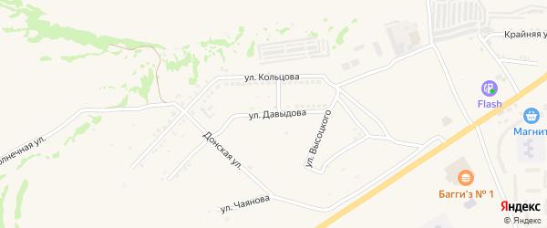 Улица Давыдова на карте Белой Калитвы с номерами домов