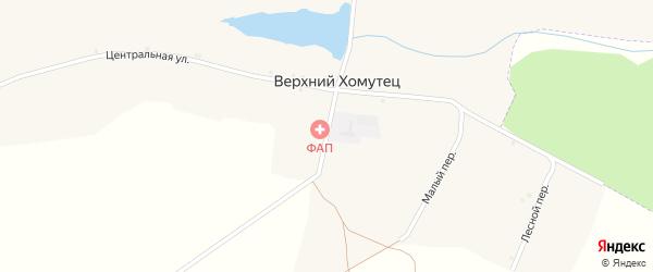 Школьный переулок на карте хутора Верхнего Хомутца Ростовской области с номерами домов