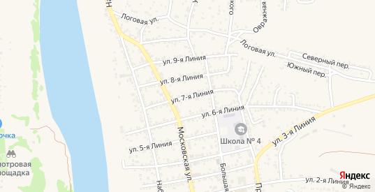 Улица 7-я Линия в Белой Калитве с номерами домов на карте. Спутник и схема онлайн