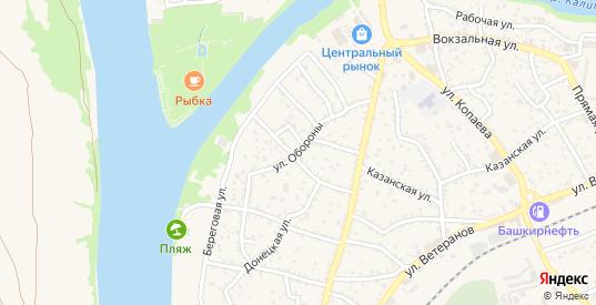 Улица Обороны в Белой Калитве с номерами домов на карте. Спутник и схема онлайн