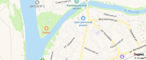Переулок Пущина на карте Белой Калитвы с номерами домов