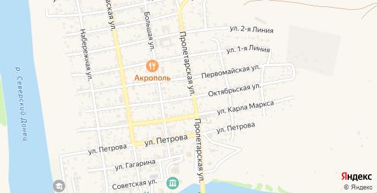 Октябрьская улица в Белой Калитве с номерами домов на карте. Спутник и схема онлайн