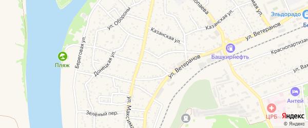 Переулок Пугачева на карте Белой Калитвы с номерами домов