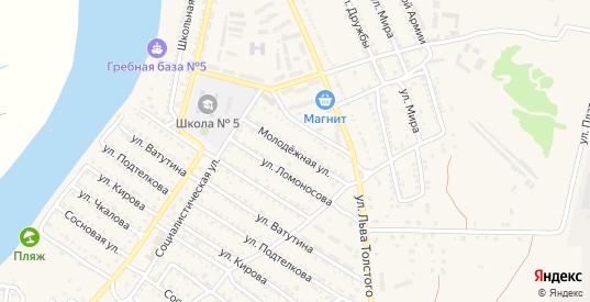 Молодежная улица в Белой Калитве с номерами домов на карте. Спутник и схема онлайн