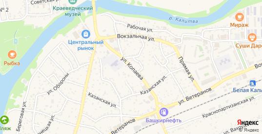 Улица Копаева в Белой Калитве с номерами домов на карте. Спутник и схема онлайн