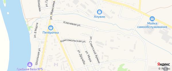 Улица Л.Шевцовой на карте Белой Калитвы с номерами домов