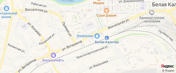 Вокзальная улица на карте Белой Калитвы с номерами домов