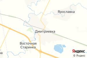 Карта пгт Дмитриевка Тамбовская область