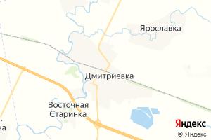 Карта пгт Дмитриевка
