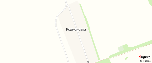 Школьный переулок на карте хутора Родионовки Ростовской области с номерами домов