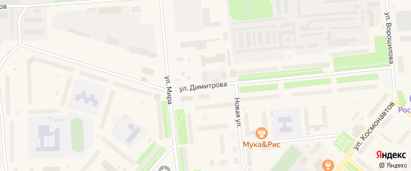 Улица Димитрова на карте Новодвинска с номерами домов