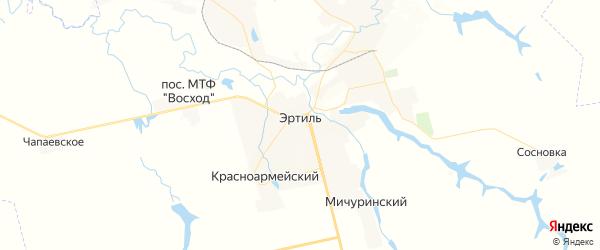 Карта Эртиля с районами, улицами и номерами домов: Эртиль на карте России