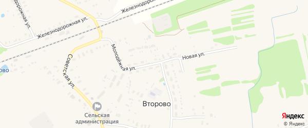 Молодежная улица на карте села Второво Владимирской области с номерами домов