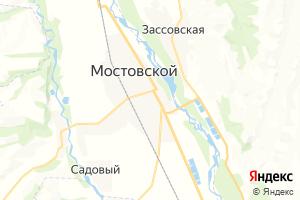 Карта пос. Мостовской Краснодарский край