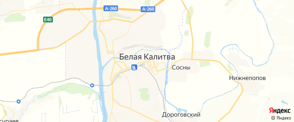 Карта Белой Калитвы с районами, улицами и номерами домов