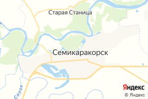 Карта г. Семикаракорск Ростовская область