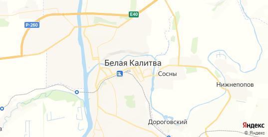Карта Белой Калитвы с улицами и домами подробная. Показать со спутника номера домов онлайн