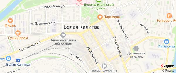 Переулок Добролюбова на карте Белой Калитвы с номерами домов