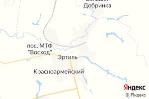 Карта г. Эртиль Воронежская область