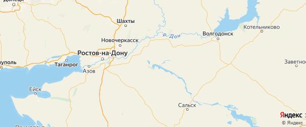 Карта Веселовского района Ростовской области с городами и населенными пунктами