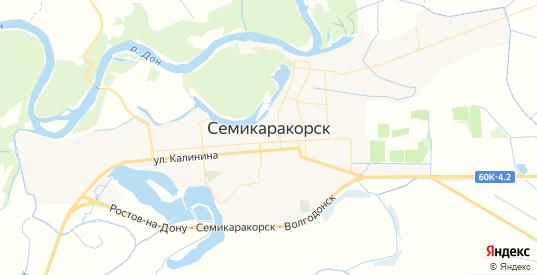 Карта Семикаракорска с улицами и домами подробная. Показать со спутника номера домов онлайн