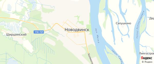 Карта Новодвинска с районами, улицами и номерами домов: Новодвинск на карте России