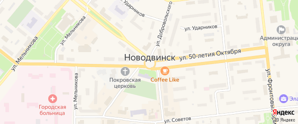 Набережная улица на карте населенного пункта СНТ Маяка с номерами домов