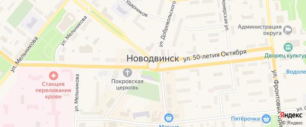 Улица Первых коммунаров 1-я Линия на карте населенного пункта СНТ Зори Севера с номерами домов