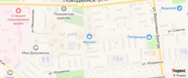 Улица Советов на карте Новодвинска с номерами домов