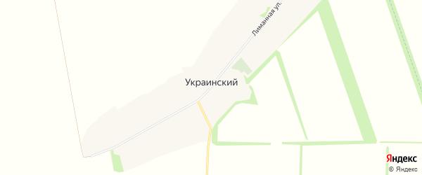 Карта Украинского хутора в Ростовской области с улицами и номерами домов