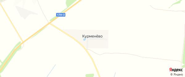 Карта деревни Курменево в Владимирской области с улицами и номерами домов
