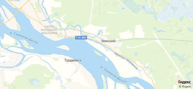 Уемский на карте