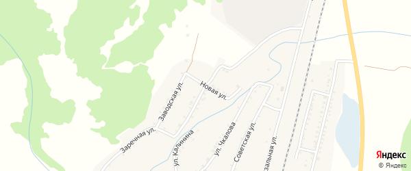 Заводская улица на карте села Шедка Краснодарского края с номерами домов