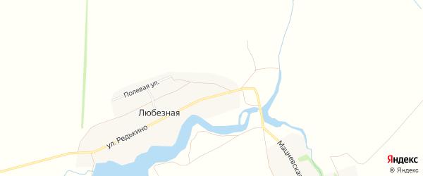 Карта Любезной деревни в Тамбовской области с улицами и номерами домов